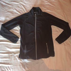 Calvin Klein black fleece logo full zip up hoodie